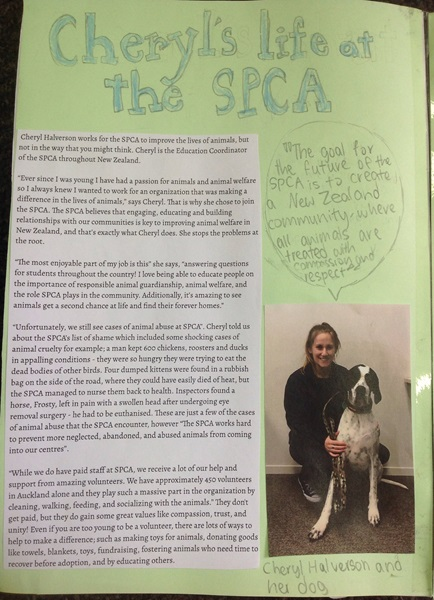 Awesome profile story written by Sophie, Isla, and Serene for their school project!