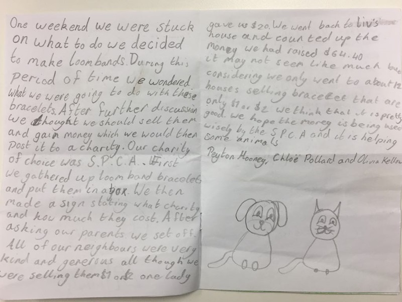 Awesome donation story from Peyton, Chloe, and Olivia from Auckland