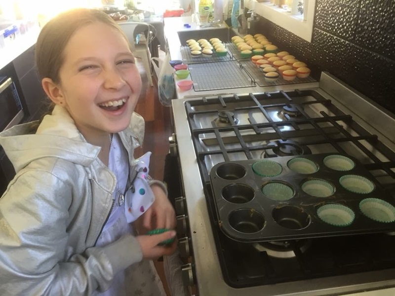 Mikayla supporting SPCA by making cupcakes for Cupcake Day!